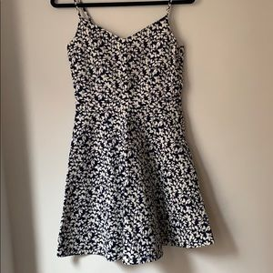Joie navy and white flower print dress